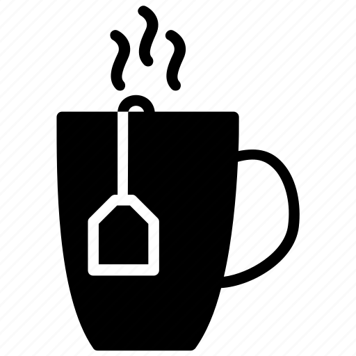 beverage, coffee, hot tea, sizzling tea, tea, tea cup icon