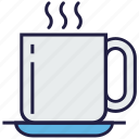 coffee, cup, food, hot, plate, tea icon
