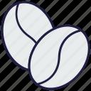 beans, cocoa, coffee, food, grain, java, seed