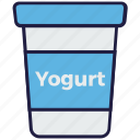 cup, dessert, food, pack, termix, yogurt icon
