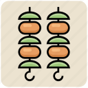 barbecue, barbecue stick, eating, food, hot, kebab icon