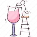 alcoholic beverage, alcoholic drink, celebration drink, champagne, drink glass, wine icon