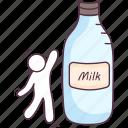 liquid food, liquor, milk bottle, milk can, milk container icon