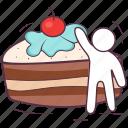 bakery, cake piece, cream cake, dessert, sweet food icon