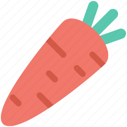 carrot, food, red carrot, root vegetable, vegetable icon