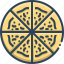 fast food, fresh, pizza, slice, spice, tasty, unhealthy icon