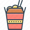 box, delivery, packaging, takeaway, wok, wok box icon