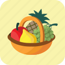 basket, buying, food, fruits, healthy, large, many icon