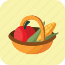 basket, buying, diet, food, fruit, medium, vegetable icon