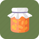 citrus, fruit preserves, glass, jam, jar, marmalade, tasty icon