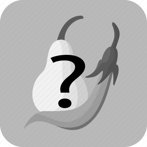 choice, food, fruit, gray, question mark, unknown, vegetable icon