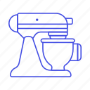 appliance, baking, cooking, food, kitchen, kitchenaid, mixer, pastry, stand, utensils icon