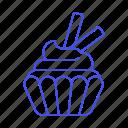 swirl, cupcake, baking, tube, food, bakery, good, wafer, sweet, baked icon