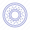 bakery, baking, donut, doughnut, food, pink, simpsons, sprinkles, sweet icon