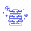 cold, containers, cooking, food, fridge, kitchen, organizers, refrigerator, storage icon