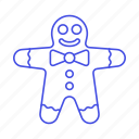 baked, cookie, dessert, food, gingerbread, good, happy, man, sweets icon