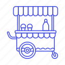 1, cart, cold, cone, cream, food, ice, sweet, syrup icon