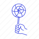 1, candy, confectionery, food, hand, holding, lolipop, store, sweets icon