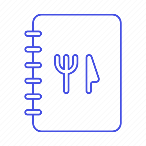 a, carte, d, food, fork, hote, knife, la, meals, menu, restaurant, table icon