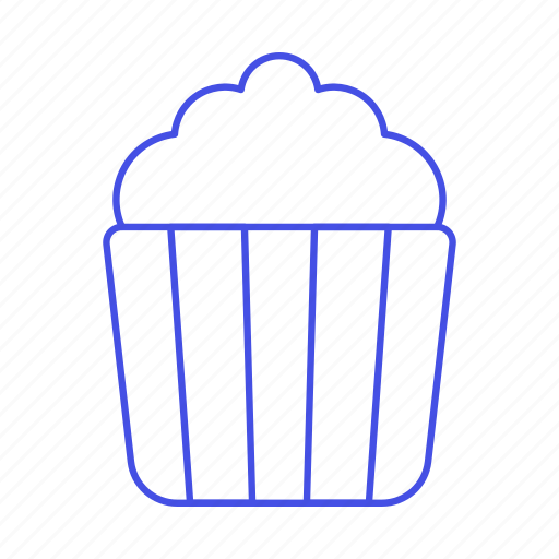 bucket, butter, cinema, fast, fastfood, fat, film, food, junk, movie, popcorn, theater icon