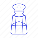 bottle, cooking, food, ingredient, kitchen, salt, shaker icon