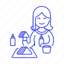 eat, eating, fast, fastfood, fat, female, food, junk, restaurant, sandwich, stand icon