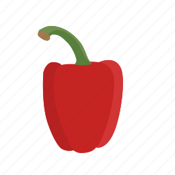 bell, food, pepper, red, red pepper, vegetable, vegetables icon icon