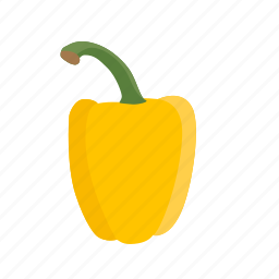 bell, food, pepper, vegetable, vegetables icon, yellow, yellow pepper icon