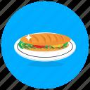 sub, sandwich, hamburger, burger, junk food, fast food, food