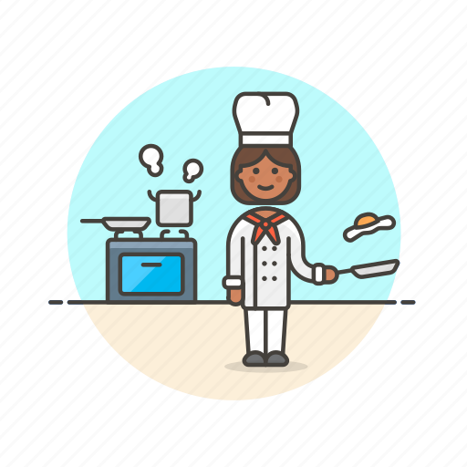 boil, chef, cook, egg, food, restaurant, stove, woman icon