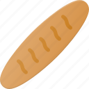 baguette, bread, eat, food icon