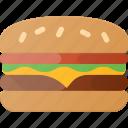 eat, fast, food, hamburger icon