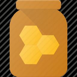 eat, food, honey, jar icon