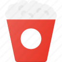eat, food, movie, popcorn, snack icon