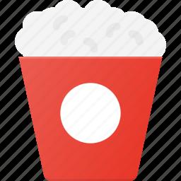 eat, food, movie, popcorn, snack icon