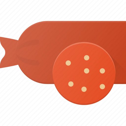 eat, food, salami, sousage icon