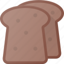 bread, eat, food, toast icon