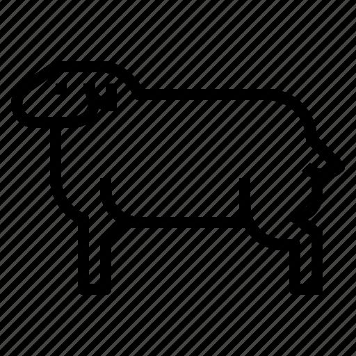 animal, farm, farming, mutton, sheep icon
