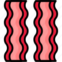 bacon, breakfast, eat, food, meal icon