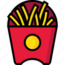 breakfast, eat, food, french, fries, meal icon