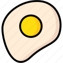 breakfast, eat, egg, food, fried, meal icon