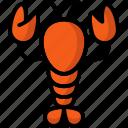breakfast, eat, food, lobster, meal icon