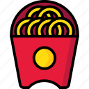 breakfast, eat, food, meal, onion, rings icon