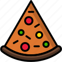breakfast, eat, fast, food, meal, pizza icon