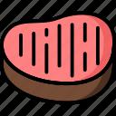 breakfast, eat, food, meal, pork, steak icon