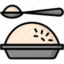 breakfast, eat, food, meal, rice icon