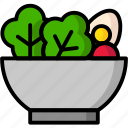 bowl, breakfast, eat, food, meal, salad icon