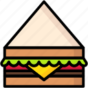 breakfast, eat, food, meal, sandwich icon