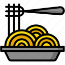 breakfast, eat, food, meal, spaghetti icon