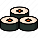 breakfast, eat, food, meal, sushi icon